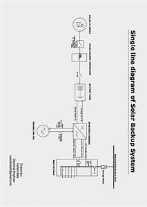 Electrical Zing  Single Line Diagram Of Solar Backup System
