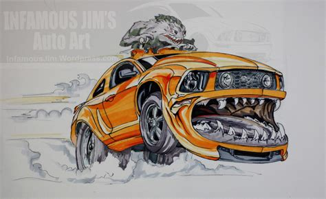 sketches infamous jims auto art sketches designs