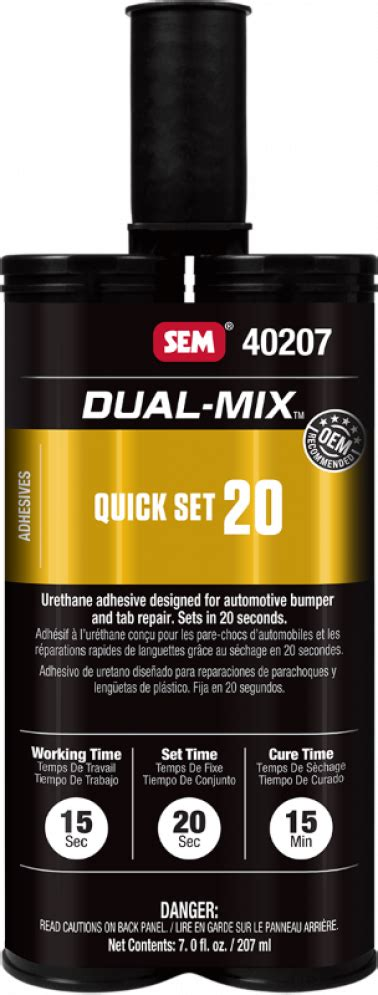 SEM Products 7OZ QUICK SET ADHES CLEAR