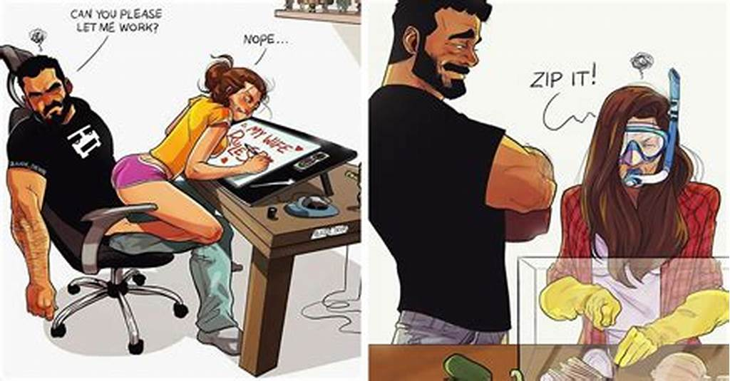 #Artist #Illustrates #Everyday #Life #With #His #Wife