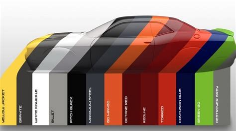 dodge debuts heritage inspired  color palette news
