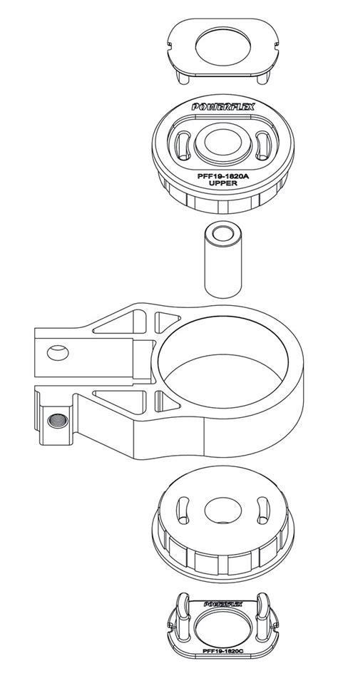 powerflex fpfr  rear spring upper isolator fiesta
