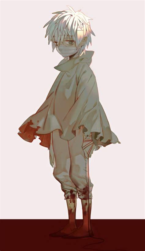 boy bandages zerochan anime image board