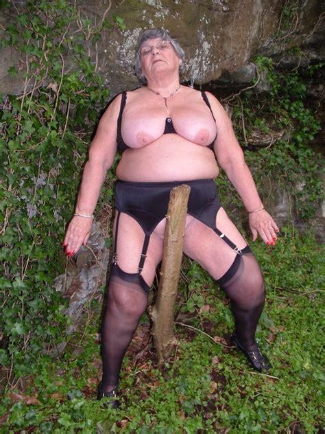Libby Ellis Bad Gran Strips In The Wood