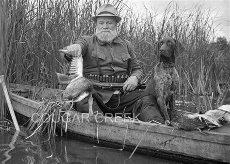 Vintage Duck Hunting Boat by 8x10 Duck Hunter Boat Canoe Shotgun German Short Hair Bird