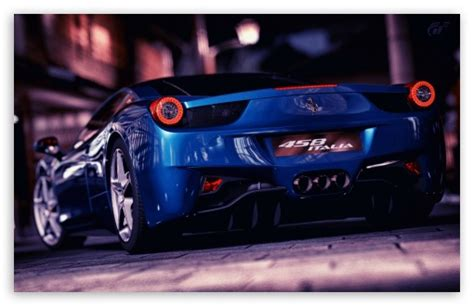 ferrari  italia blue  hd desktop wallpaper