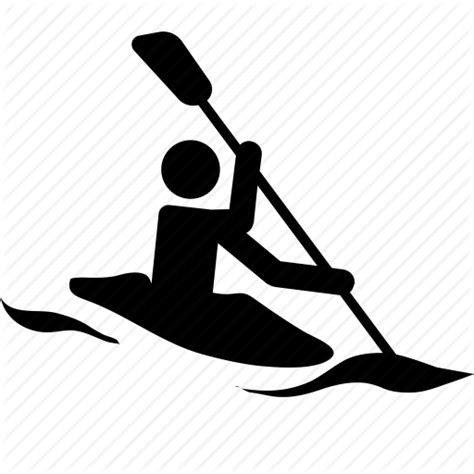 Canoe, kayak, kayaking, sea, sport, surf, whitewater icon ...
