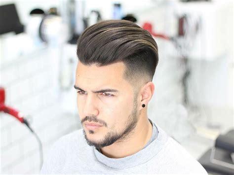 slicked  hairstyle  men bentalasaloncom
