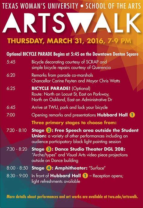 event flyer texas womans university