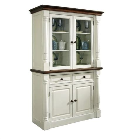 Buffet and Hutch in White and Oak Finish  5020 617