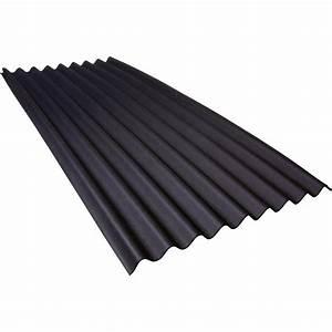 Plaque Ondulée Pour Toiture : plaque ondul e bitum e noir x 2m onduline leroy ~ Premium-room.com Idées de Décoration