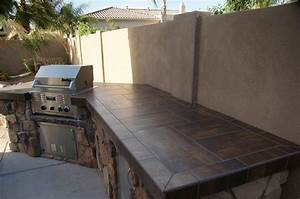 Outdoor countertops landscaping network for Outdoor kitchen tile