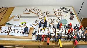 wooden grave marker With wood router letter templates