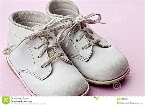 baby shoe white baby shoes stock photo image 14304870