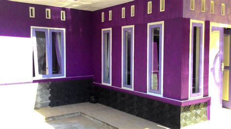 rumah minimalis  ungu youtube