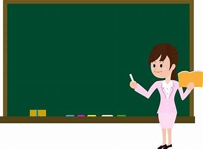 Teacher Blackboard Clipart Woman Transparent Creazilla