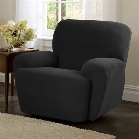 wing chair slipcovers sure fit stretch pique wing chair recliner slipcover