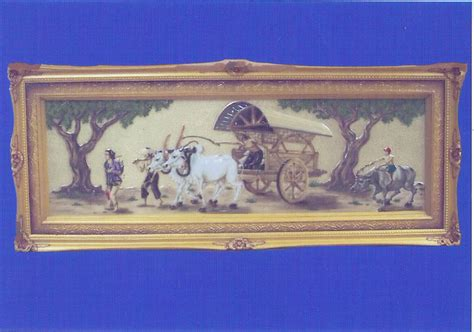 KALIGRAFI KUNINGAN: Gerobak Sapi (canvas)