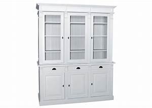 Vaisselier Pin Massif : acheter votre vaisselier en pin massif blanc 6 portes 3 tiroirs chez simeuble ~ Teatrodelosmanantiales.com Idées de Décoration