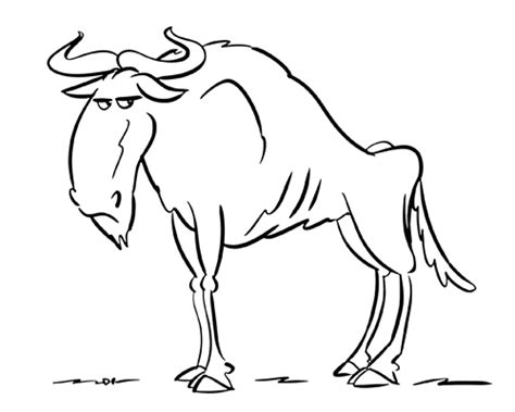 wildebeest coloring pages getcoloringpagescom