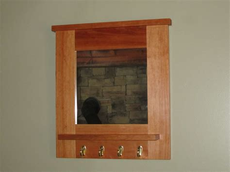 hand crafted cherry hall mirror  bearkat wood