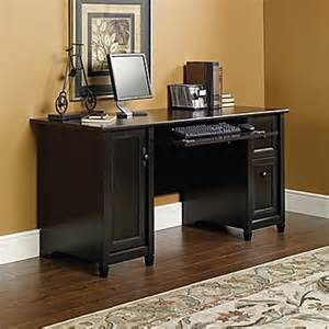 sauder edge water computer desk wide black staples 174