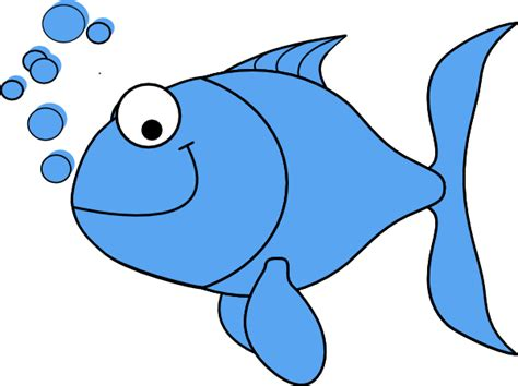 Cartoon Pic Of Fish In A Bowl