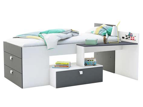 lit combiné avec bureau lit combiné avec bureau et 3 tiroirs couchage 90x200 cm mono