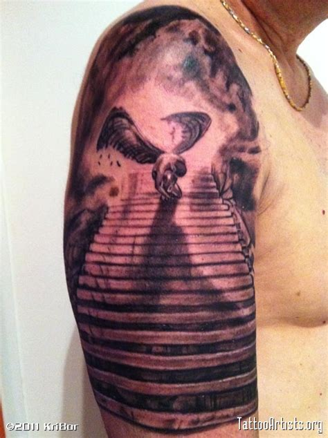 Staircase To Heaven Tattoo by Stairway To Heaven Tattoo Artists Org