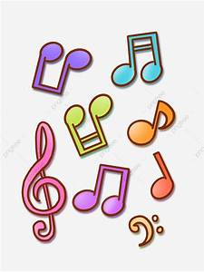 Hand Drawn Cartoon Colorful Musical Notes Music Symbols ...