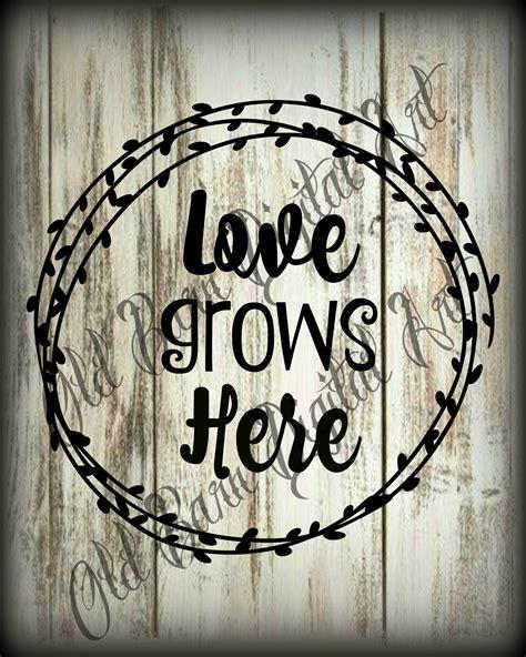 primitive digital love grows  farmhouse background jar