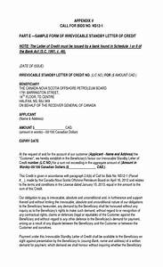 sample form of irrevocable standby letter of credit With irrevocable letter of credit template