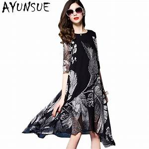 robe femme ete 2017 women beach dress female slim printing With robe ete 2017 femme