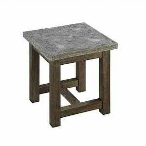 concrete end table home furniture design With concrete coffee table and end tables