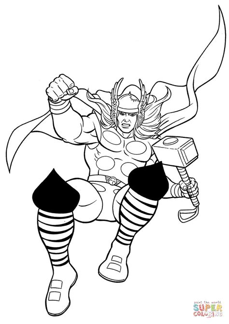 Kleurplaat Thor by Thor The Prince Of Thunder Coloring Page Free Printable