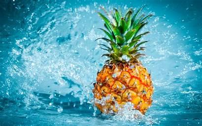 Fruit Water Pineapples Desktop Backgrounds Wallpapers