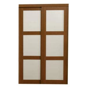 glass interior doors home depot truporte 72 in x 80 in 2310 series 3 lite tempered frosted glass composite cherry interior