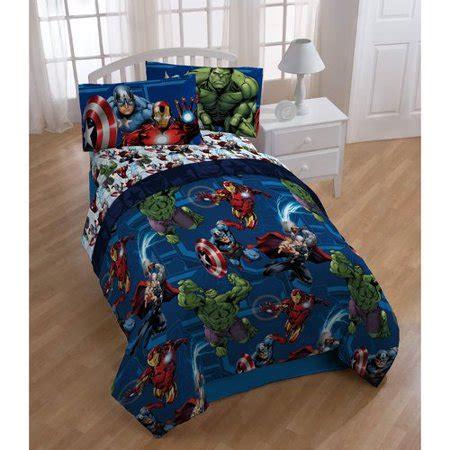avengers comforter set twin marvel bed in a bag 5 bedding set with bonus tote walmart