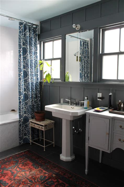 persian rug   bathroom  add warmth