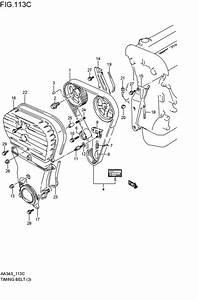 Timing Belt For 1993 Suzuki Cultus Aa34s