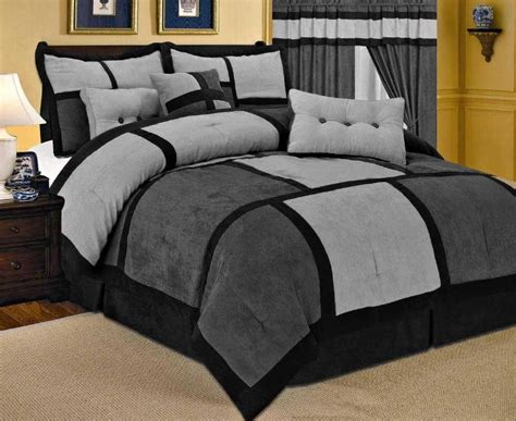 Queen Size Comforters » 21 Piece Comforter + Curtain + Gray Sheet Set French Pleat Ready Made Curtains What Color Go With Dark Grey Walls Door For Insulation How To Make A Waterfall Ruffle Shower Curtain Volvo Semi Truck 72 X 86 Cafe Insulated Block Heat