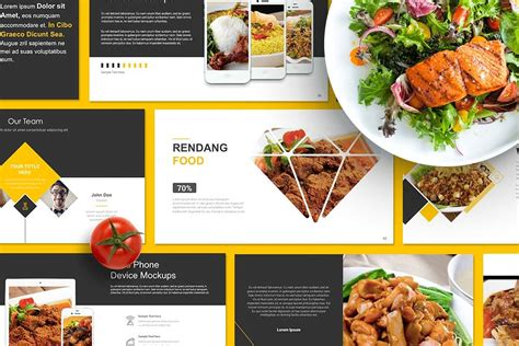 food powerpoint template food presentation powerpoint presentation templates creative market