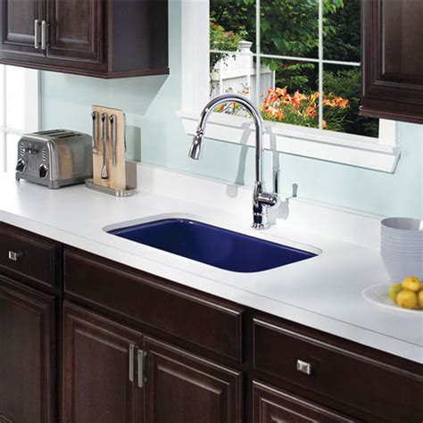 colored sinks kitchen ex pcg 3600 porcela collection porcelain enamel steel 2333