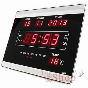 Horloge Murale Led : horloge numerique murale topiwall ~ Teatrodelosmanantiales.com Idées de Décoration