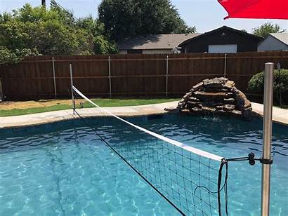 Volleyball Pool System Adjustable Nets Sets Commercial