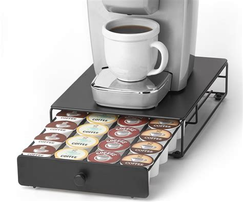 While eight ounces is the norm, some models allow. Under the Brewer Storage Drawer for K-Cup Packs Organize 24 K-Cup Pods. K-Cup Ho 885525651056 | eBay