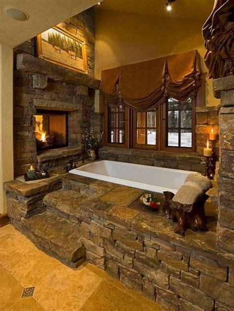 beautiful cozy home  gorgeous stone fireplace  telorecipecom rustic bathrooms
