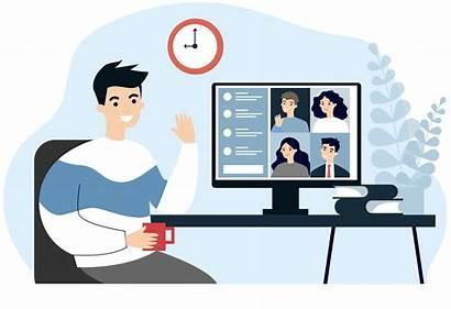 Virtual Meeting Job Classroom Taking Fairs Iteach
