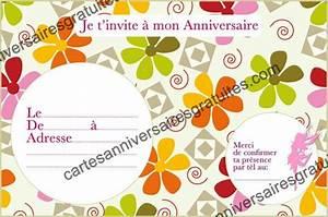 Theme Anniversaire Fille : invitation anniversaire assortiment de fleurs 123cartes ~ Melissatoandfro.com Idées de Décoration