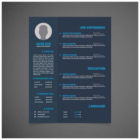 Curriculum Vitae Design Template by Curriculum Vitae Template Design Vector Free